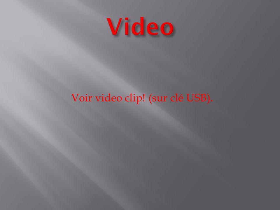 Voir video clip! (sur clé USB).