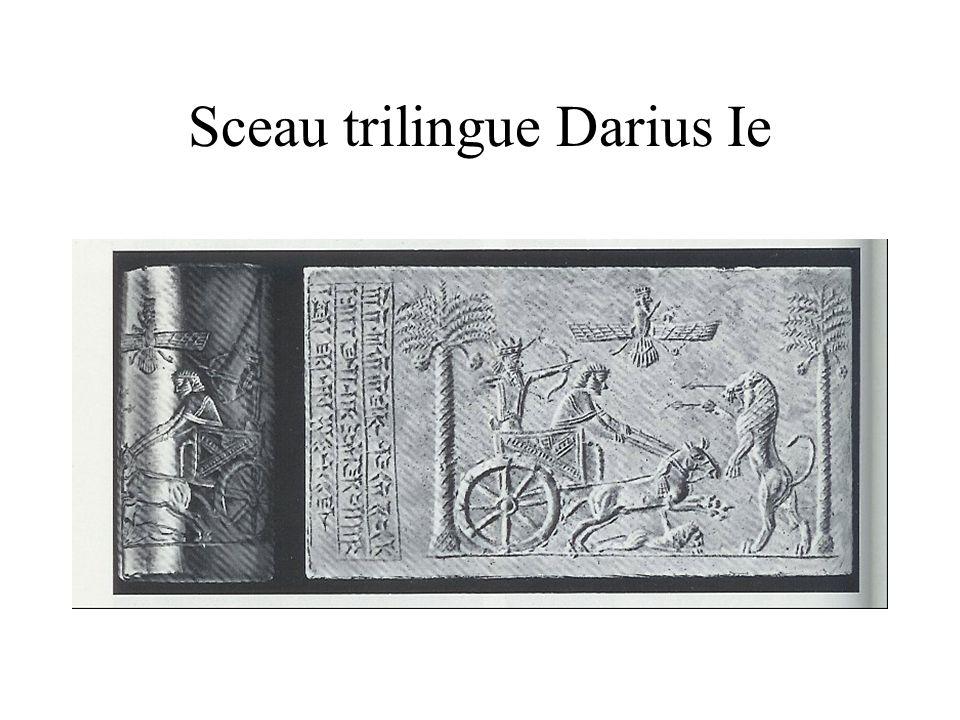 Sceau trilingue Darius Ie