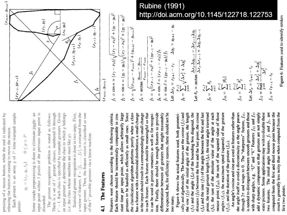 Rubine (1991) http://doi.acm.org/10.1145/122718.122753