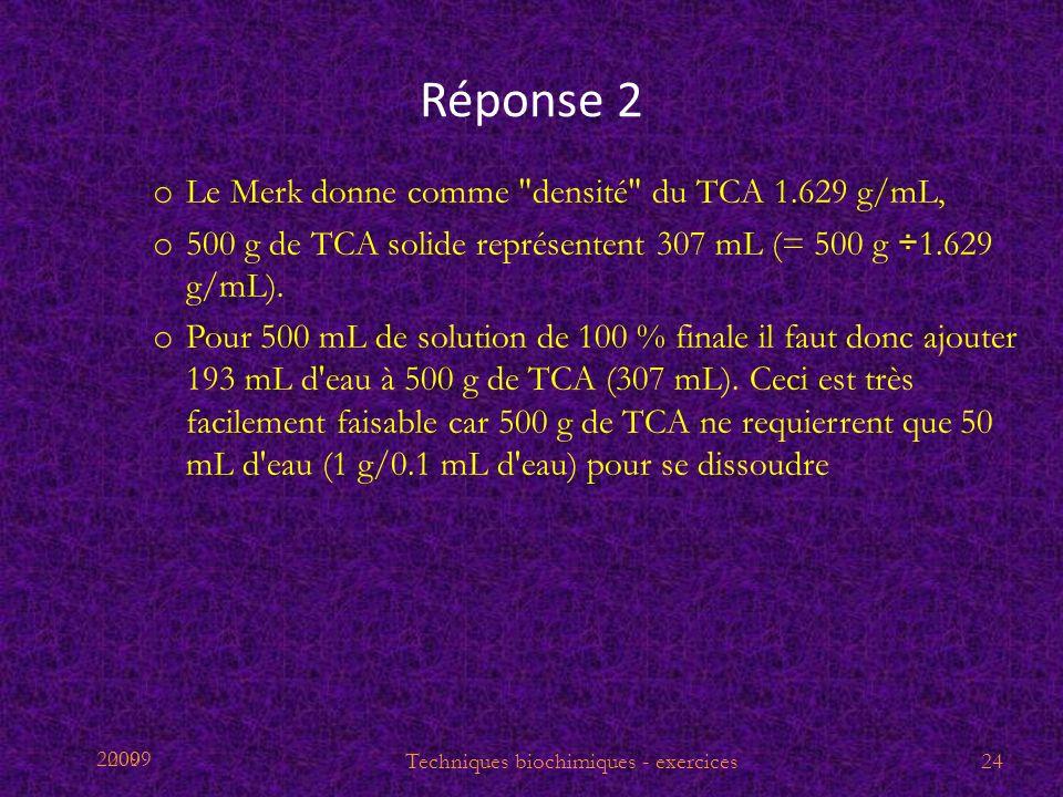 2009 Réponse 2 o Le Merk donne comme