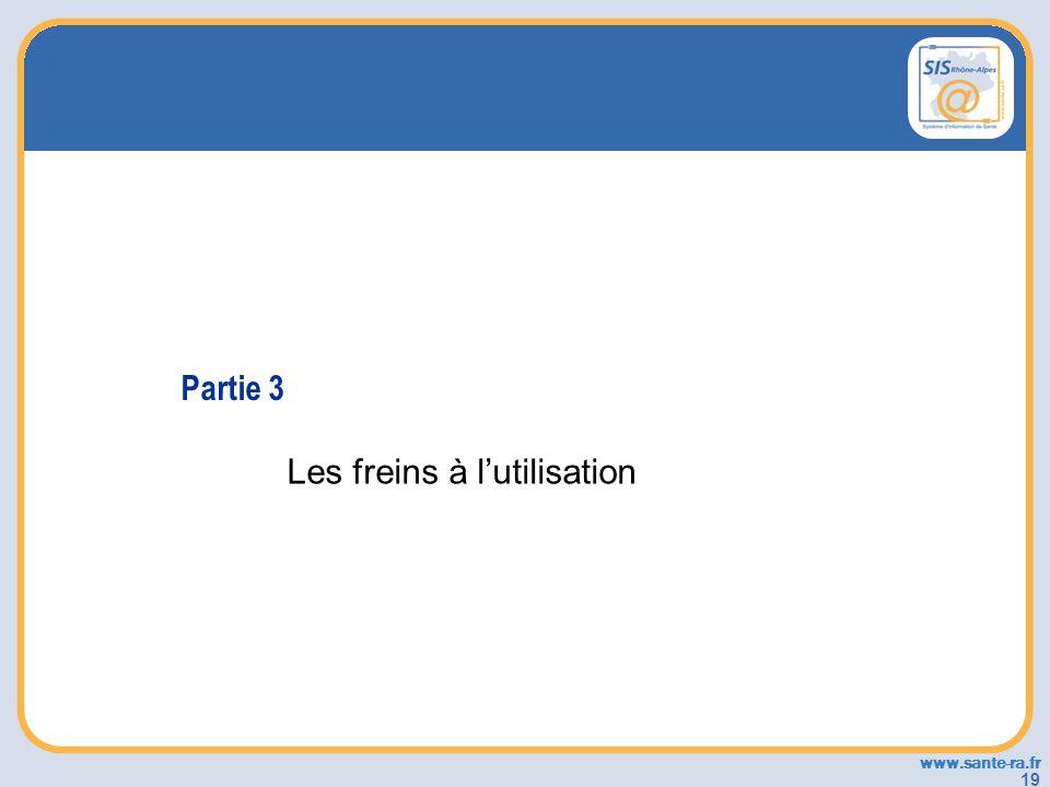 www.sante-ra.fr 19 Partie 3 Les freins à lutilisation