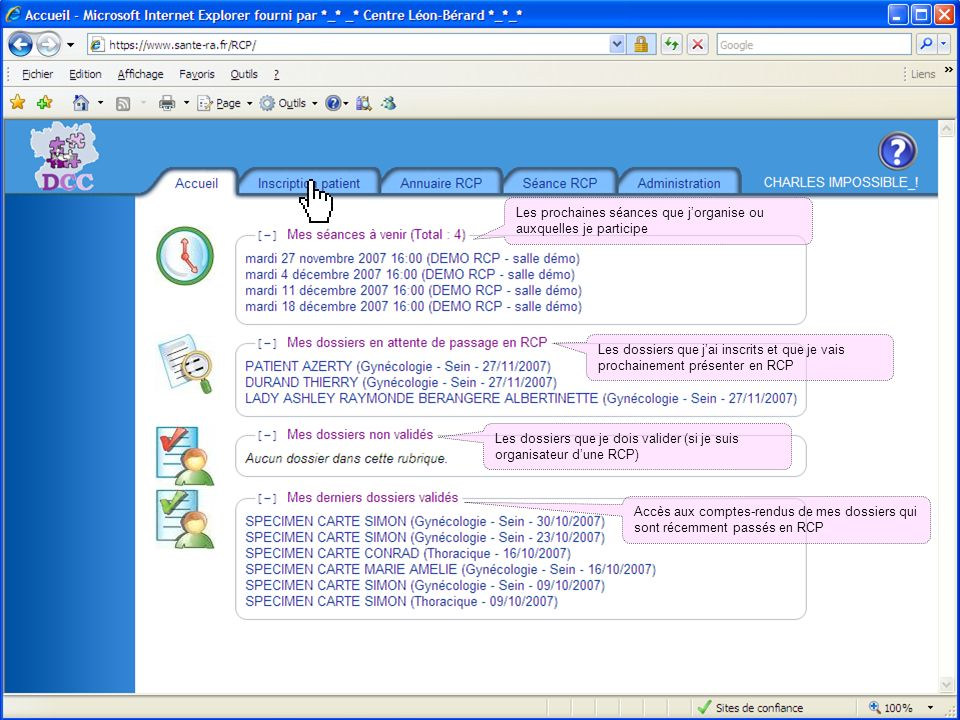 19 mai 2014Présentation outils DCC 38 Les prochaines séances que jorganise ou auxquelles je participe Les dossiers que jai inscrits et que je vais pro