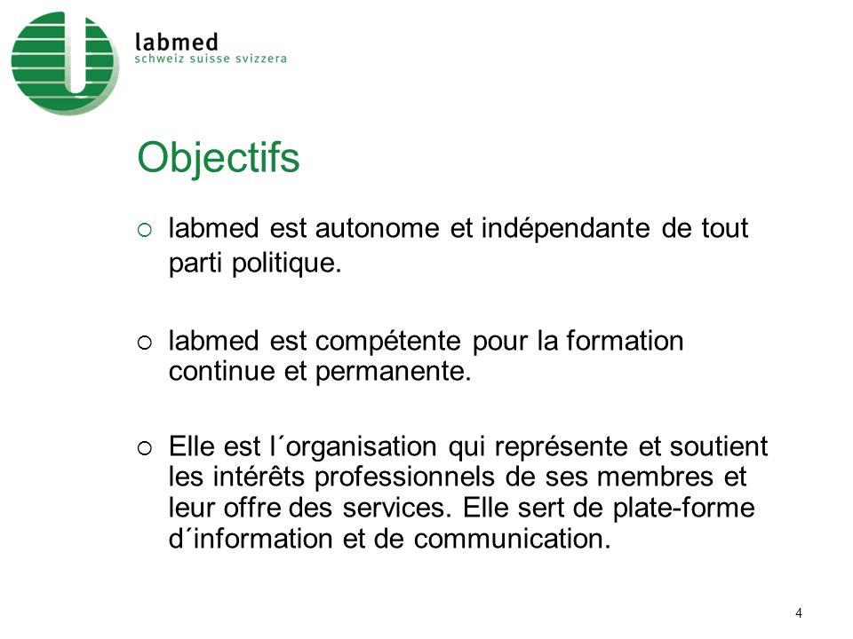 4 Objectifs labmed est autonome et indépendante de tout parti politique.