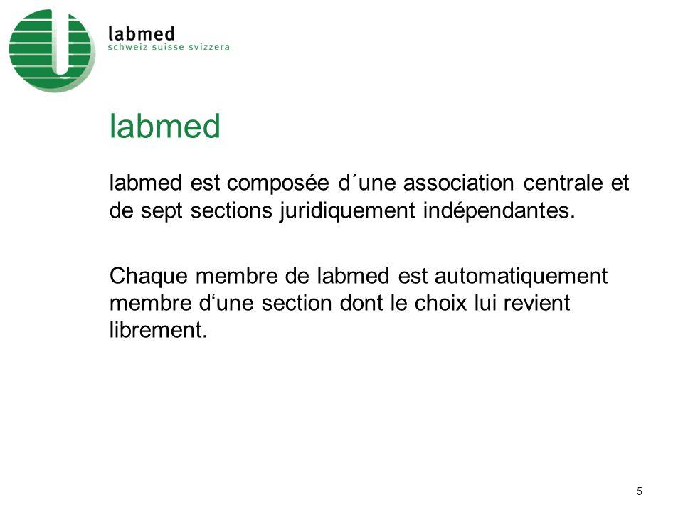 5 labmed labmed est composée d´une association centrale et de sept sections juridiquement indépendantes.