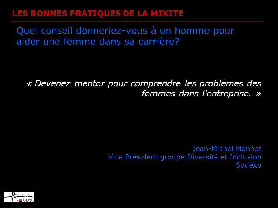 LES BONNES PRATIQUES DE LA MIXITE Y a-t-il chez Oracle systématiquement une femme dans les plans de succession de postes.