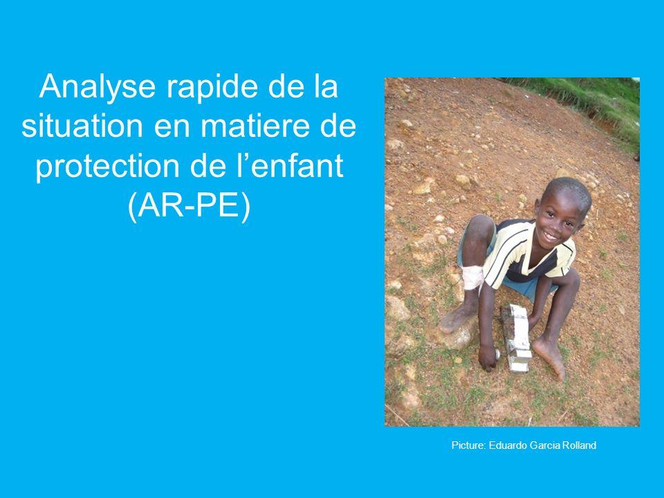 Analyse rapide de la situation en matiere de protection de lenfant (AR-PE) Picture: Eduardo Garcia Rolland