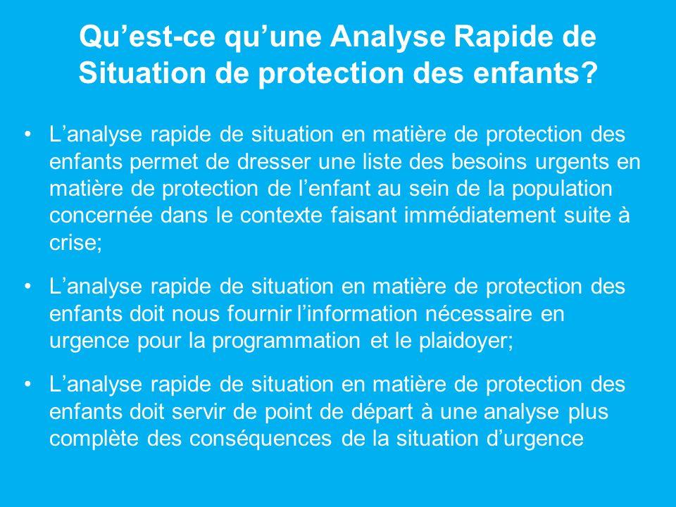 Quest-ce quune Analyse Rapide de Situation en matière de protection des enfants NEST PAS.