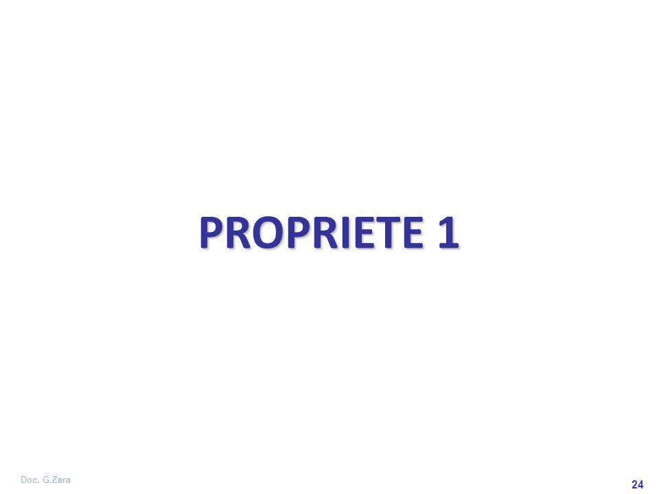 Doc. G.Zara 24 PROPRIETE 1