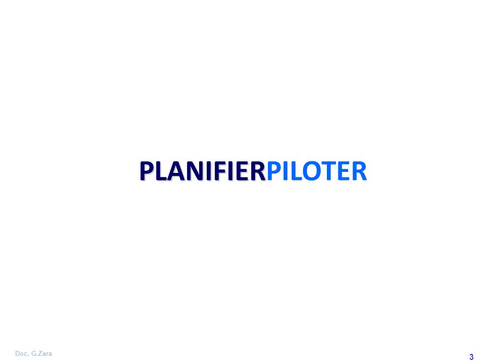 Doc. G.Zara 3 PLANIFIER PLANIFIERPILOTER