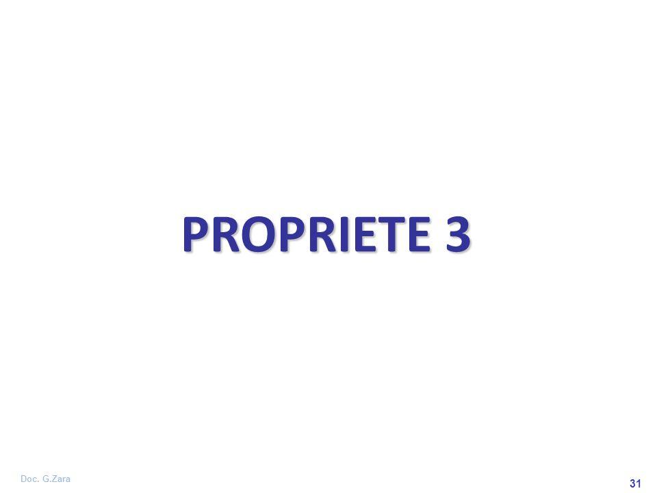 Doc. G.Zara 31 PROPRIETE 3