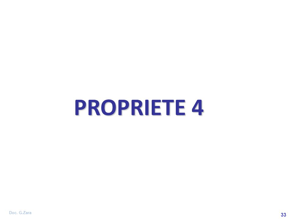 Doc. G.Zara 33 PROPRIETE 4