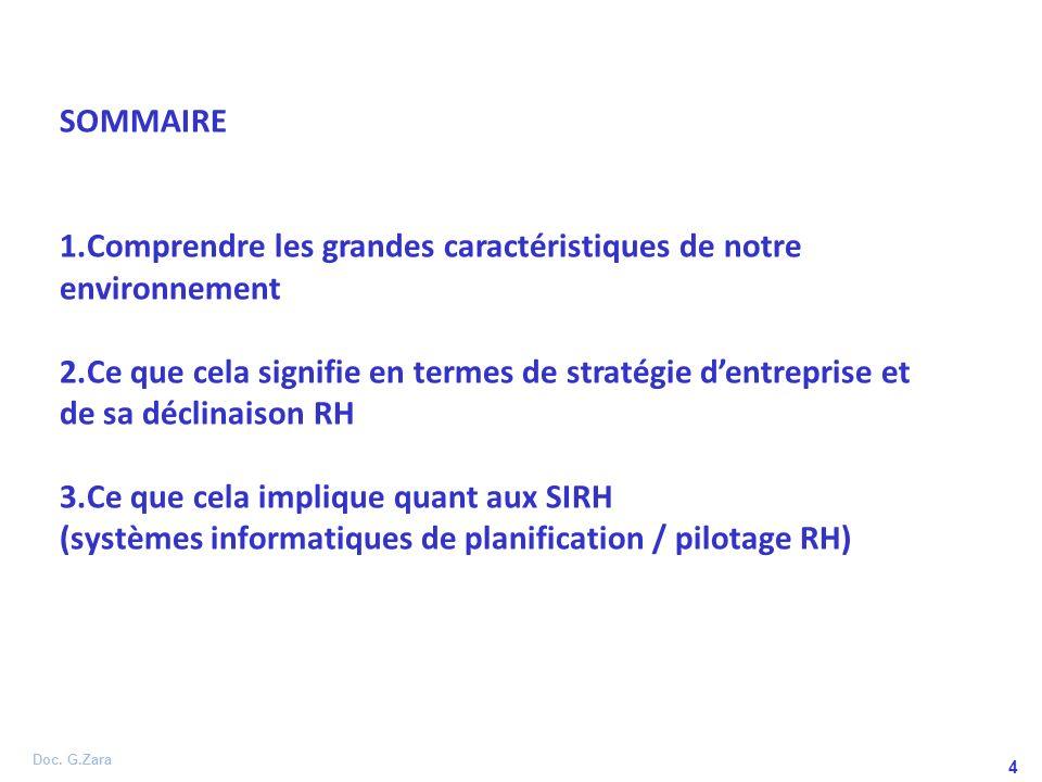 Doc. G.Zara 5 ENVIRONNEMENT STRATEGIE POLITIQUE RH PILOTAGE