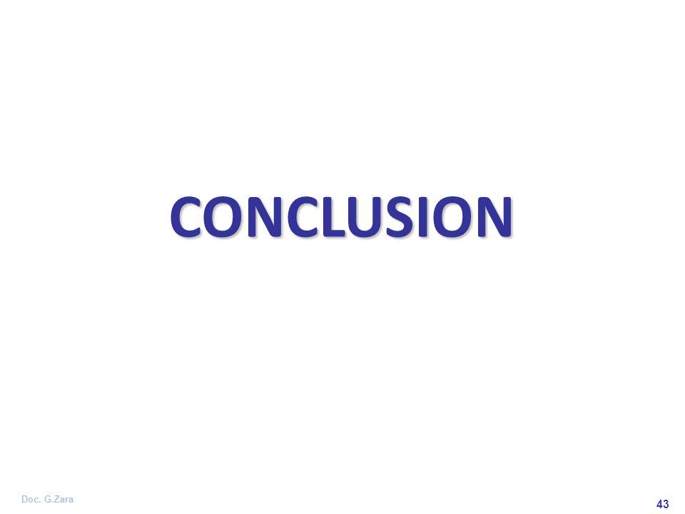 Doc. G.Zara 43 CONCLUSION