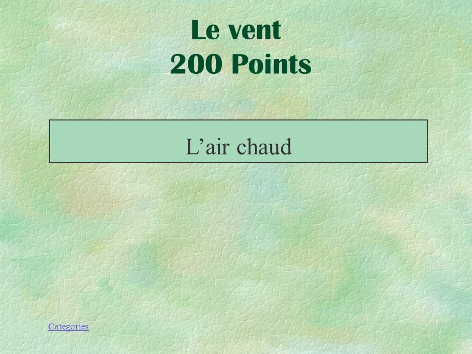 Categories Le vent 200 Points Cela monte!