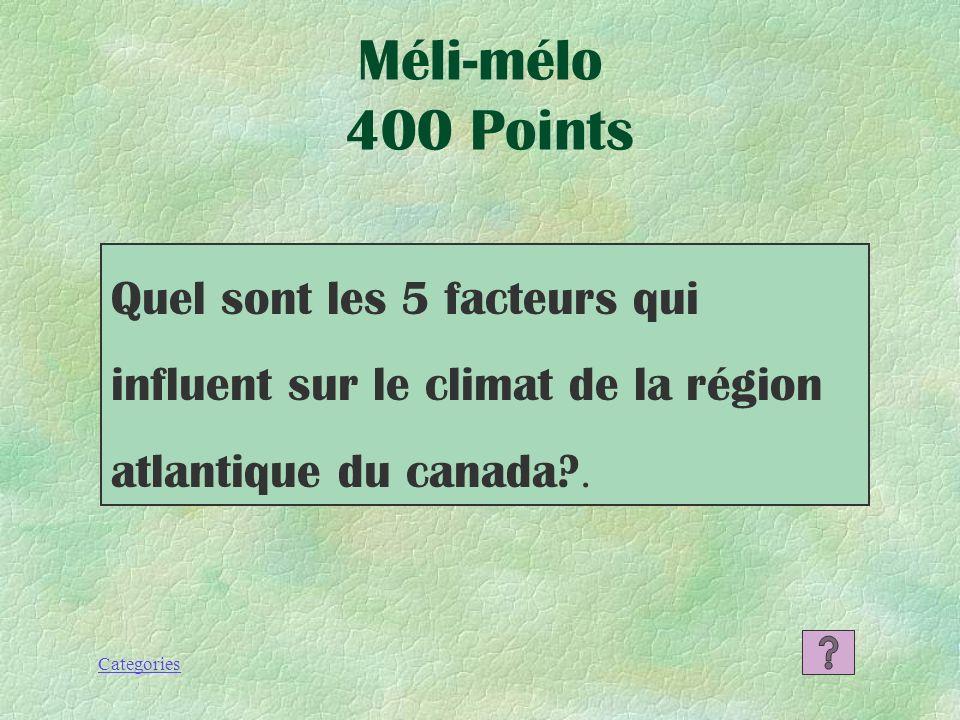 Categories Méli-mélo 300 Points La condensation est le processus selon lequel le vapeur devient liquide.