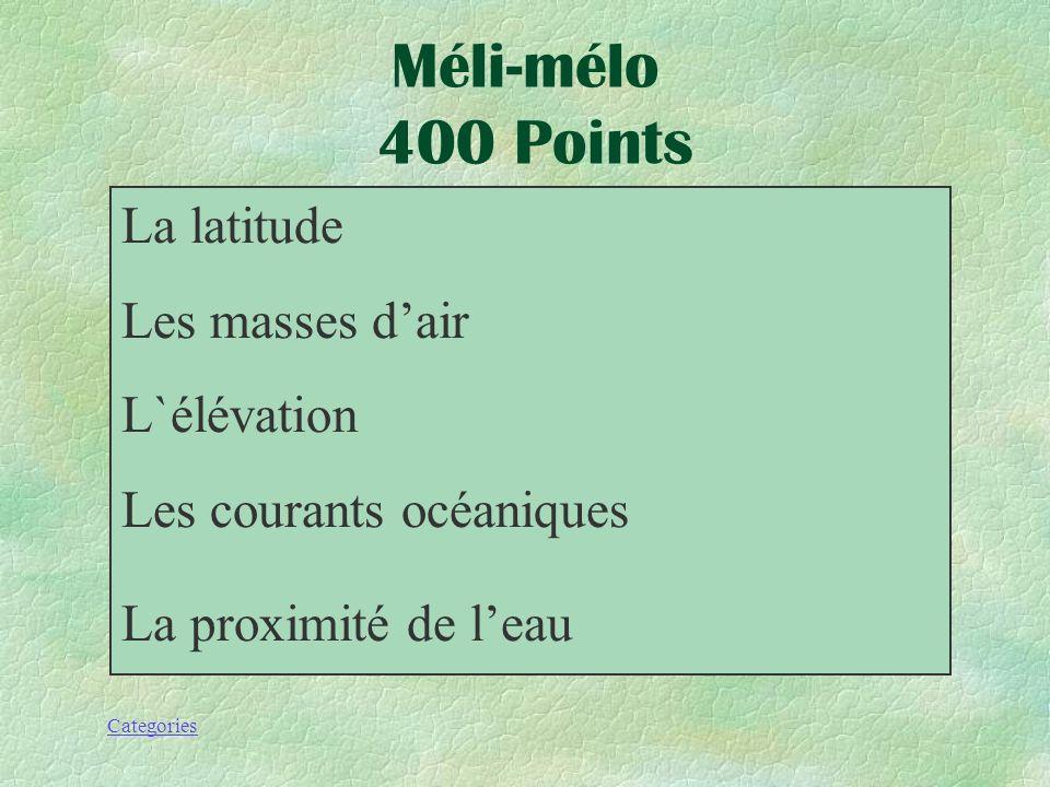 Categories Quel sont les 5 facteurs qui influent sur le climat de la région atlantique du canada?. Méli-mélo 400 Points