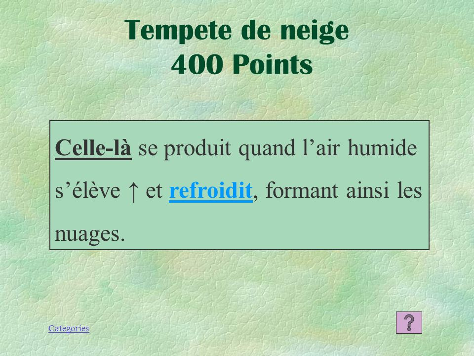 Categories Tempete de neige 300 Points La neige