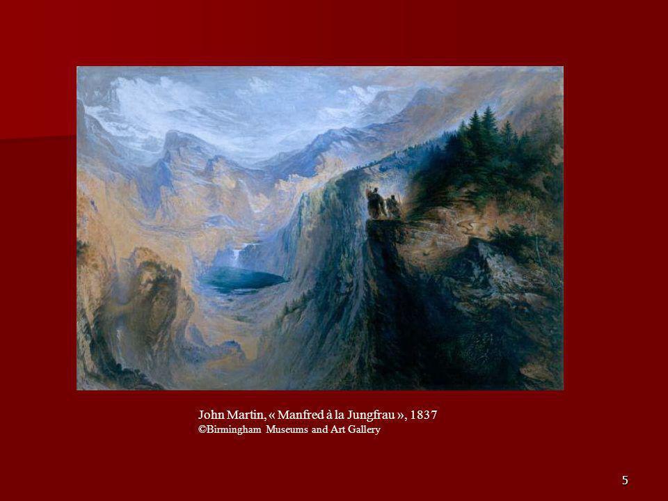 5 John Martin, « Manfred à la Jungfrau », 1837 ©Birmingham Museums and Art Gallery