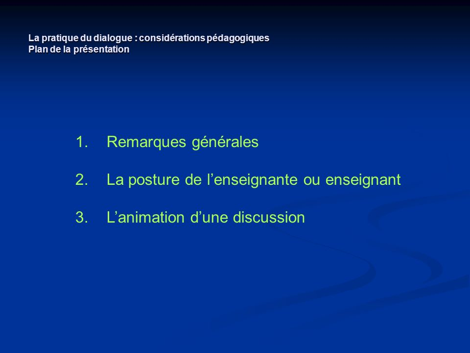 Dissertation Plan Dialogique