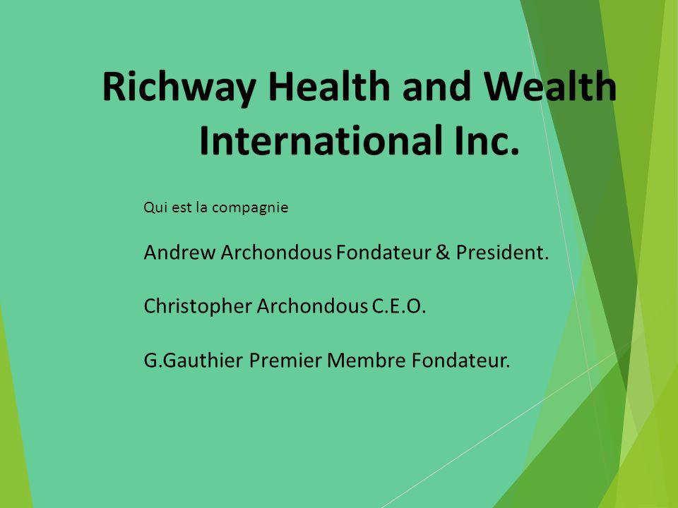 Qui est la compagnie Andrew Archondous Fondateur & President. Christopher Archondous C.E.O. G.Gauthier Premier Membre Fondateur.