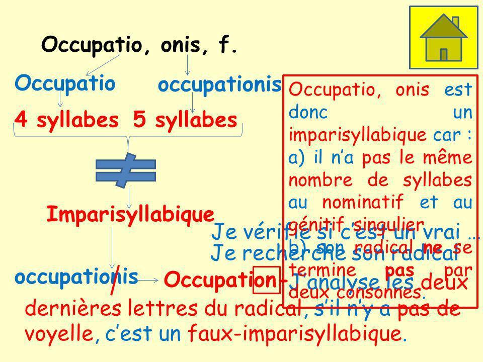Occupatio, onis, f.