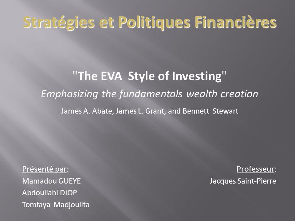 Stratégies et Politiques Financières