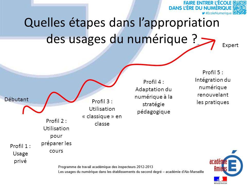 Quelles étapes dans lappropriation des usages du numérique .