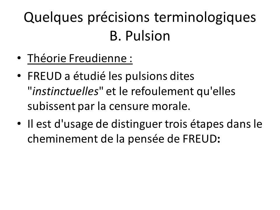 Quelques précisions terminologiques B.