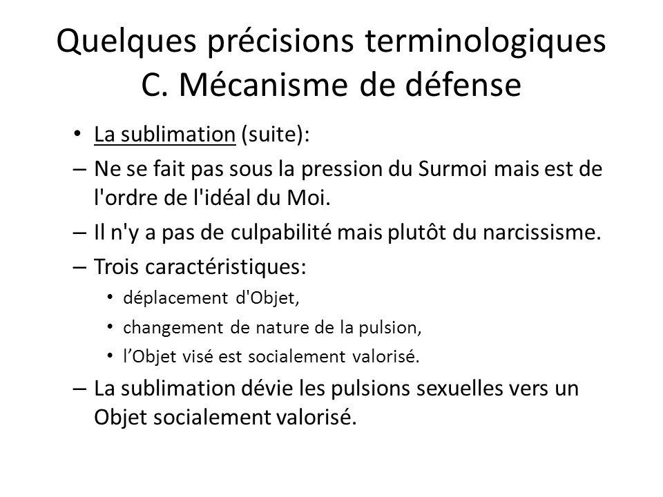 Quelques précisions terminologiques C.