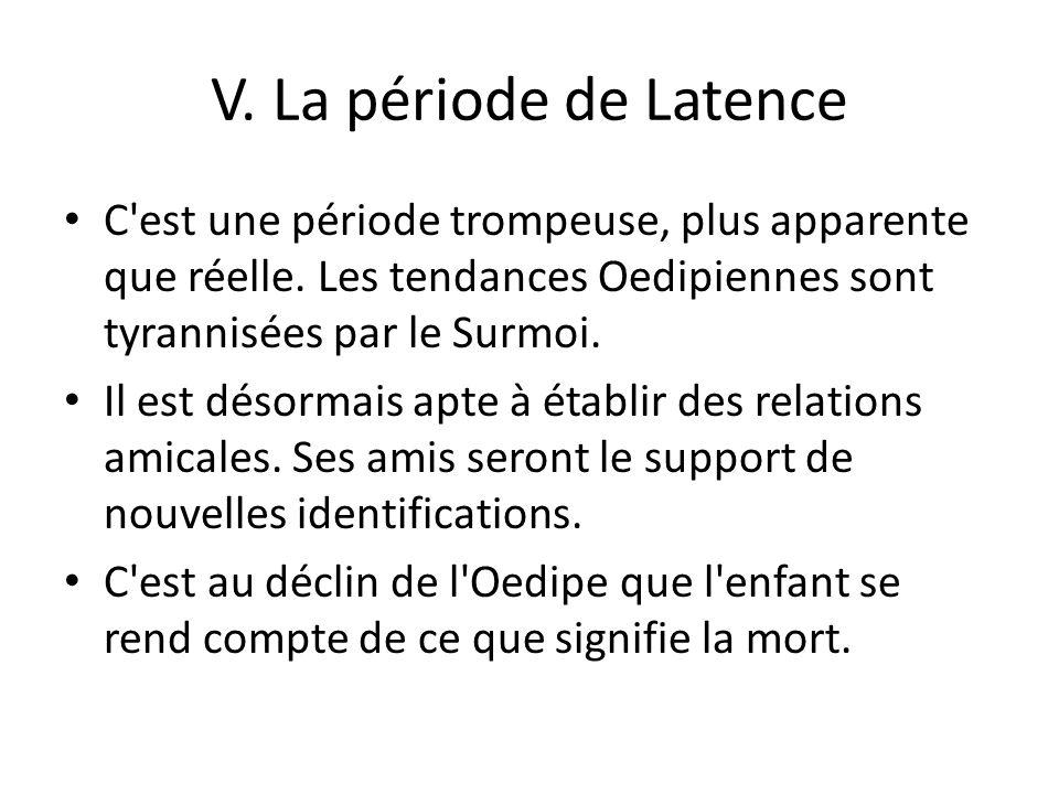 V.La période de Latence C est une période trompeuse, plus apparente que réelle.