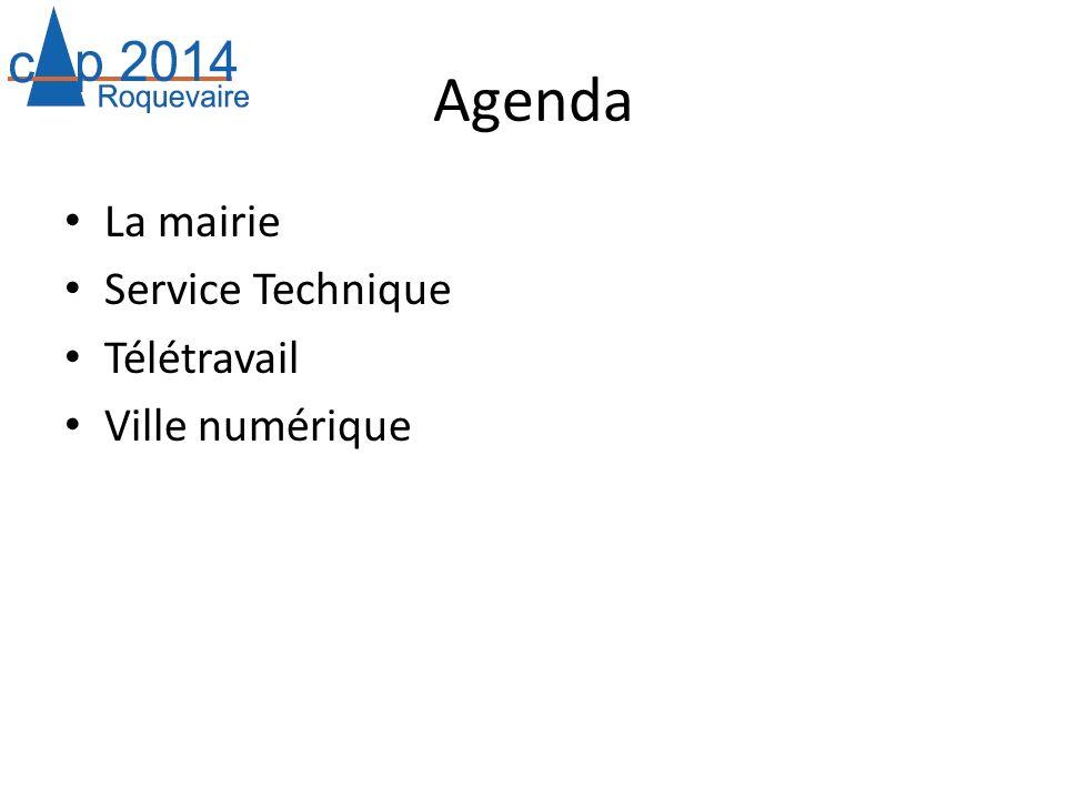 Agenda La mairie Service Technique Télétravail Ville numérique