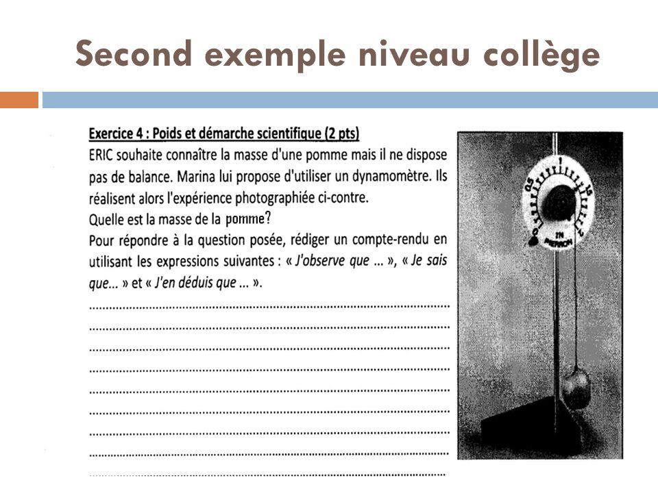 Second exemple niveau collège