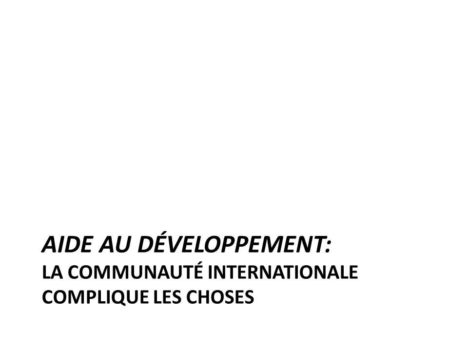 AIDE AU DÉVELOPPEMENT: LA COMMUNAUTÉ INTERNATIONALE COMPLIQUE LES CHOSES
