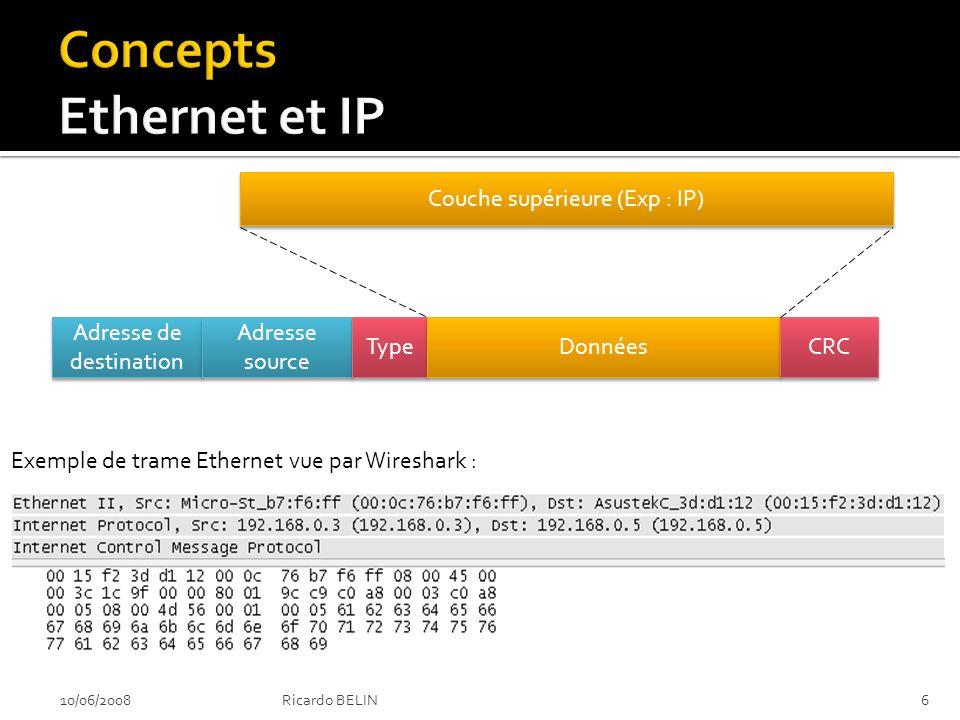 Affaiblissement de protocole Exemple : SSH 10/06/200827Ricardo BELIN Je veux établir une connexion SSH OK Je supporte SSH1 uniquement OK Je supporte SSH1 et SSH2 OK nous allons négocier en SSH1 Pirate Serveur SSH Client