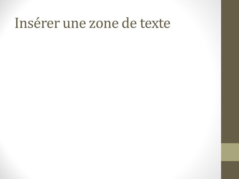 Insérer une zone de texte
