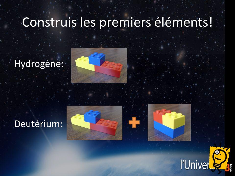 Construis les premiers éléments! Hydrogène: Deutérium: