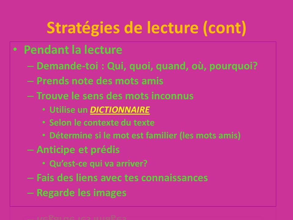 Compréhension de lecture Grammaire (verbes, syntaxe, adjectifs, etc.)/10 Orthographe/5 Habileté de répondre aux questions/5 Effort /3 Ponctuation/2 -1 pour chaque mot en anglais!!!!!