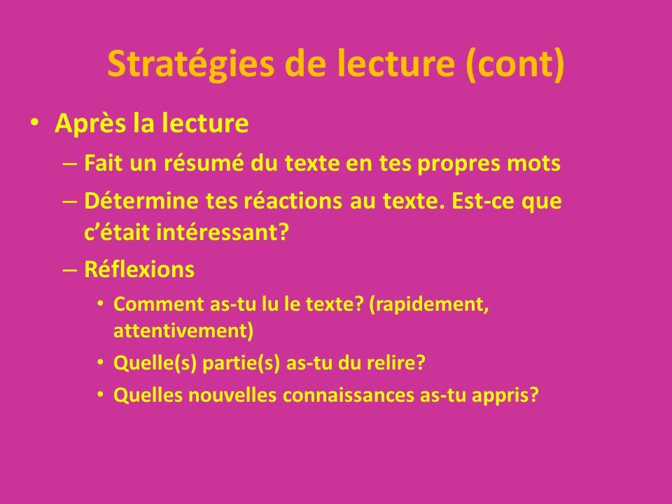 Auto-évaluation Est-ce que tu parles en français pendant le temps de travail.