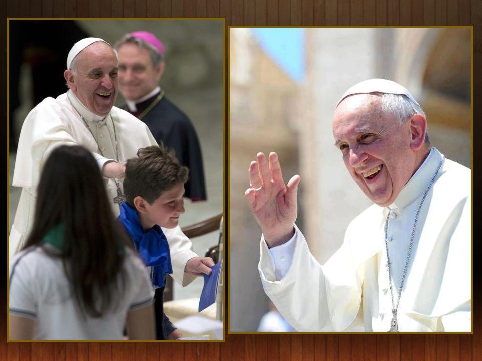 Le pape Francisco avec les frères augustins, qu'il visitait dans la basilique de Saint-Augustin - Rome