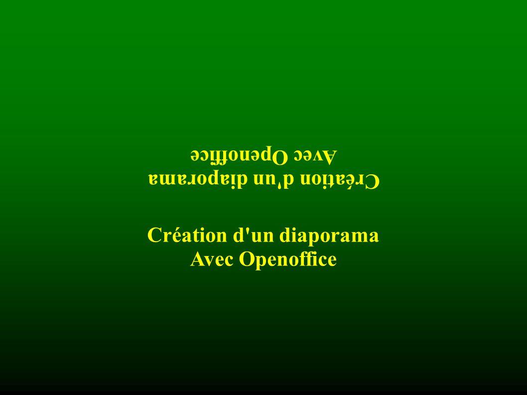 Création d un diaporama Avec Openoffice Pour insérer une image, on utilise le menu Insertion/Image .