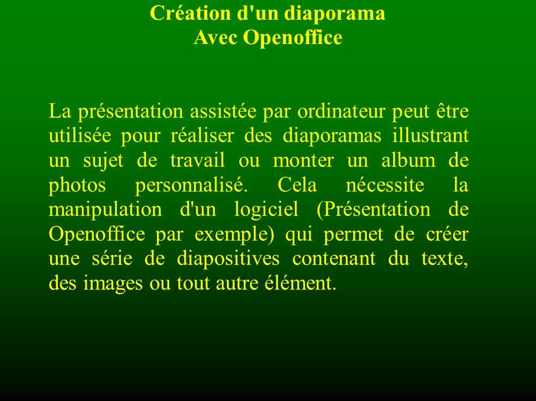 La présentation assistée par ordinateur peut être utilisée pour réaliser des diaporamas illustrant un sujet de travail ou monter un album de photos personnalisé.