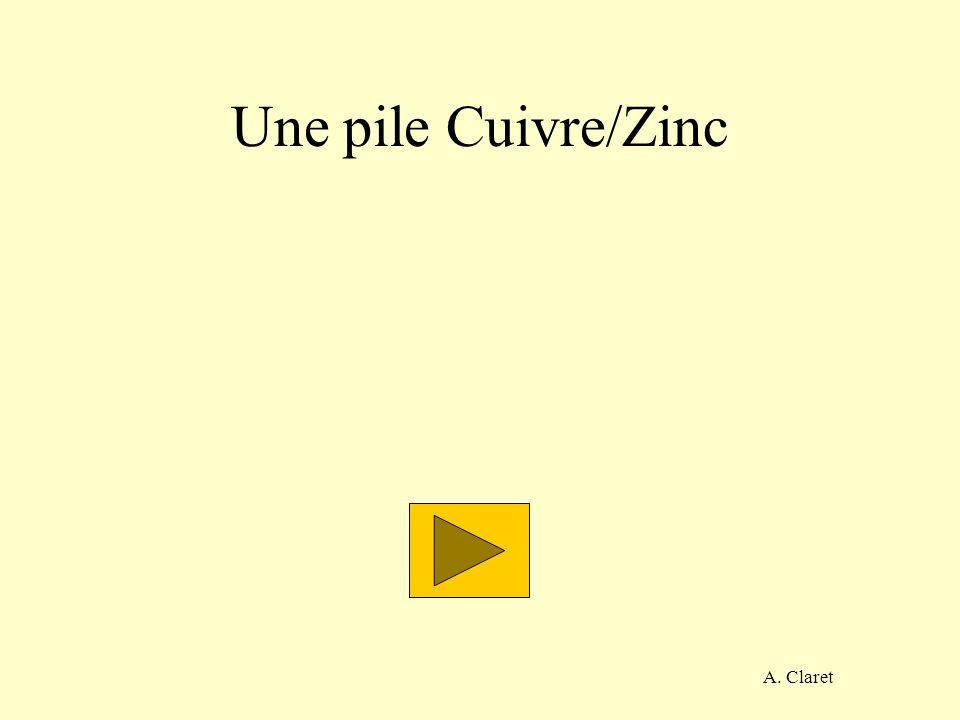 A. Claret Une pile Cuivre/Zinc