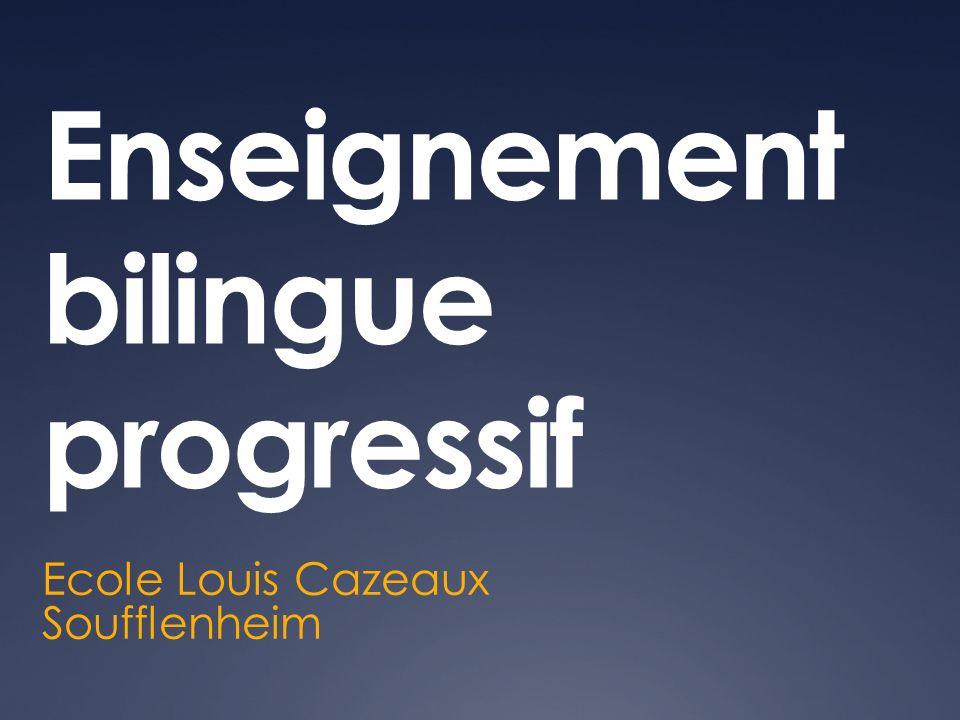 Enseignement bilingue progressif Ecole Louis Cazeaux Soufflenheim