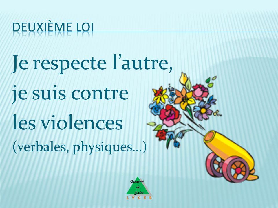 Je respecte lautre, je suis contre les violences (verbales, physiques…)
