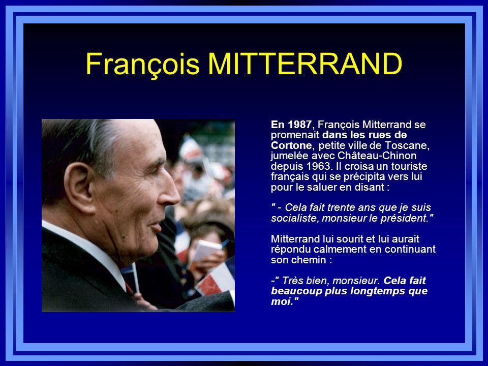 Jacques CHIRAC En mai 1986, lorsqu'il forma son gouvernement pour la première cohabitation, Jacques Chirac nomma au ministère de la Justice un baron d