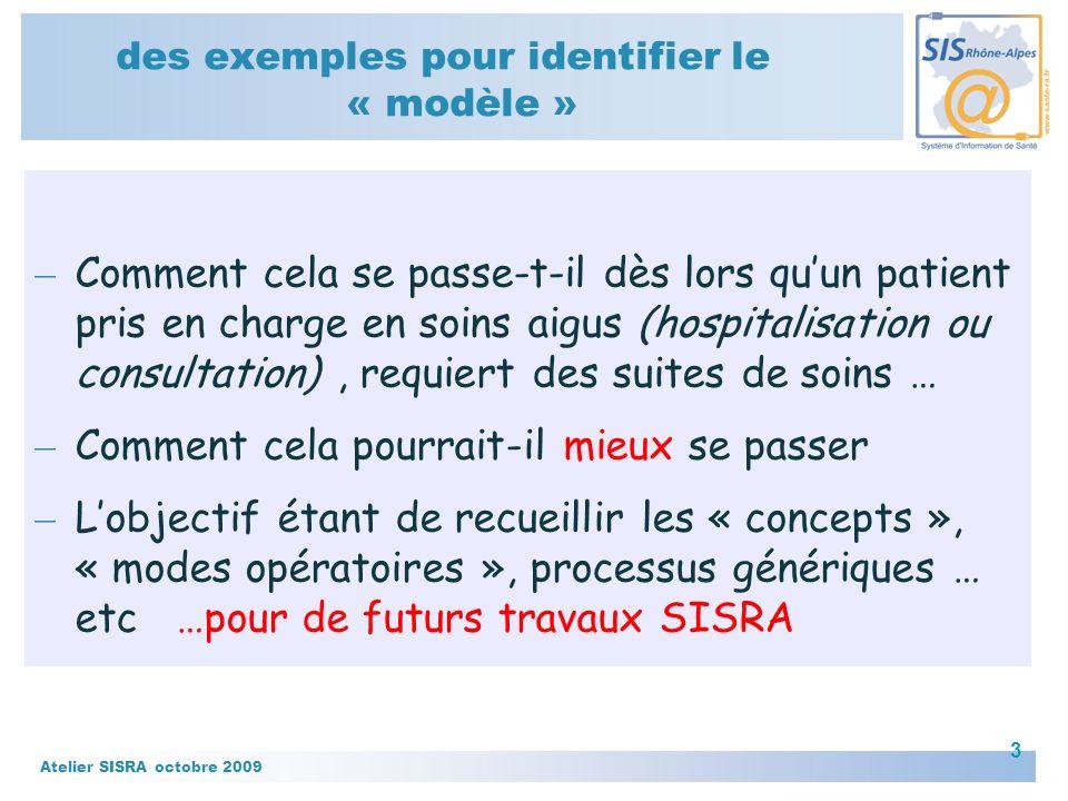 Atelier SISRA octobre 2009 4 Trajectoire SSR – Des nouvelles du déploiement de «Trajectoire - soins de suite et de réadaptation
