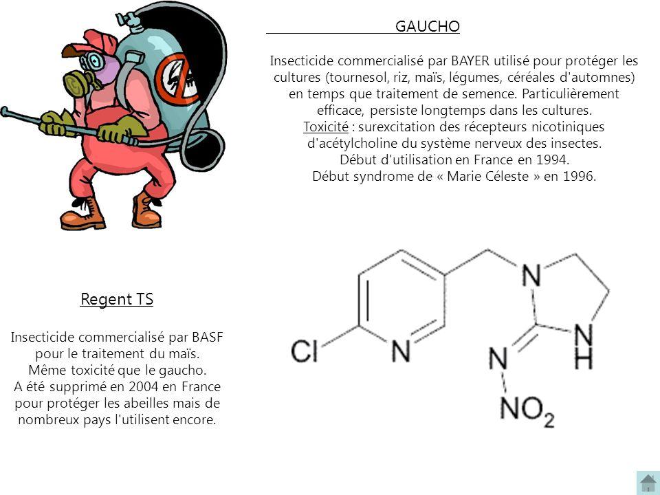 GAUCHO Insecticide commercialisé par BAYER utilisé pour protéger les cultures (tournesol, riz, maïs, légumes, céréales d'automnes) en temps que traite