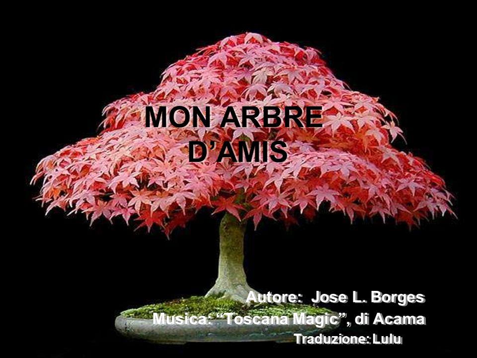 MON ARBRE DAMIS Autore: Jose L. Borges Musica: Toscana Magic, di Acama Traduzione: Lulu