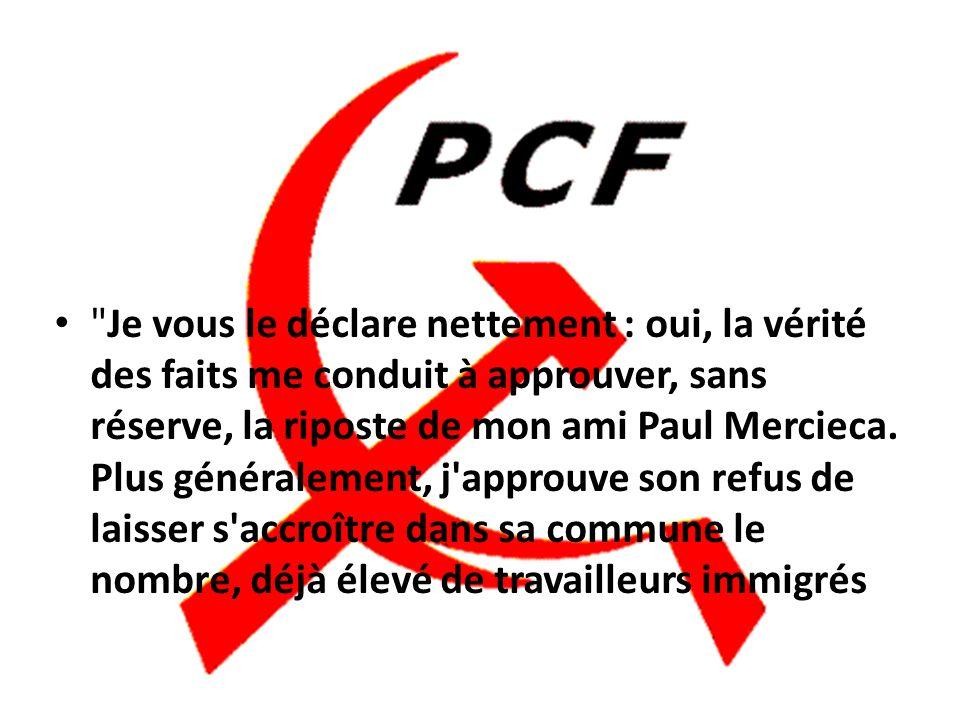 Lettre de Georges Marchais, alors secrétaire général du PC, reproduite dans« LHumanité » du 6 janvier1981. Elle est adressée au recteur de la mosquée