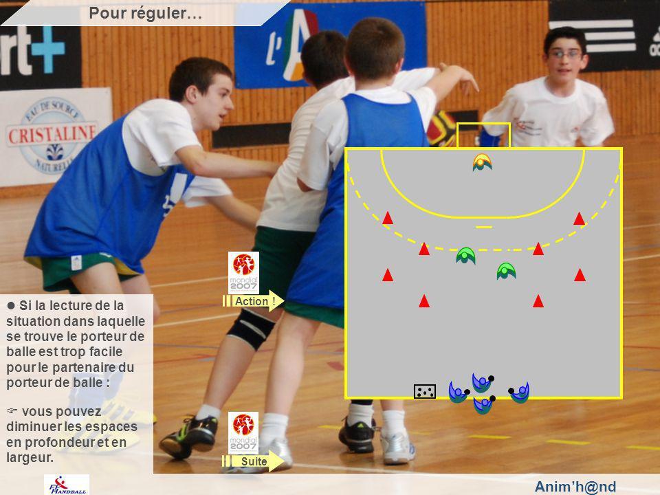 Animh@nd Si la lecture de la situation dans laquelle se trouve le porteur de balle est trop facile pour le partenaire du porteur de balle : vous pouvez diminuer les espaces en profondeur et en largeur.